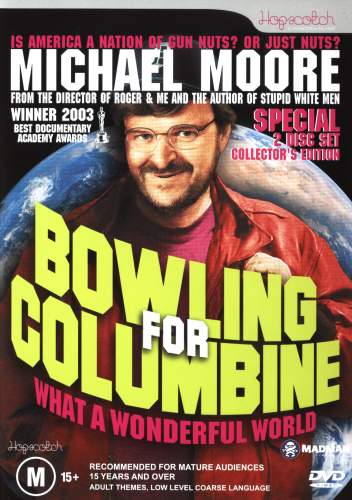 sociological analysis bowling columbine film michael moore Bowling for columbine is a 2002 american documentary film written, produced, directed, and narrated by michael moorethe film explores what moore suggests are the primary causes for the columbine high school massacre in 1999 and other acts of violence with guns.